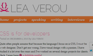 CSS is For Developers